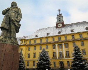 Lenin Statue vor dem Haus der Offiziere in Wünsdorf Brandenburg