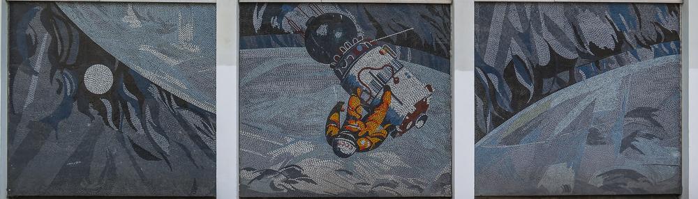 "Mosaik Potsdam Rechenzentrum ""Der Mensch bezwingt den Kosmos"""