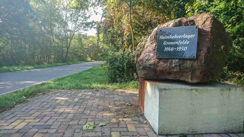 Gedenkstein Heimkehrerlager Gronenfelde Frankfurt Oder