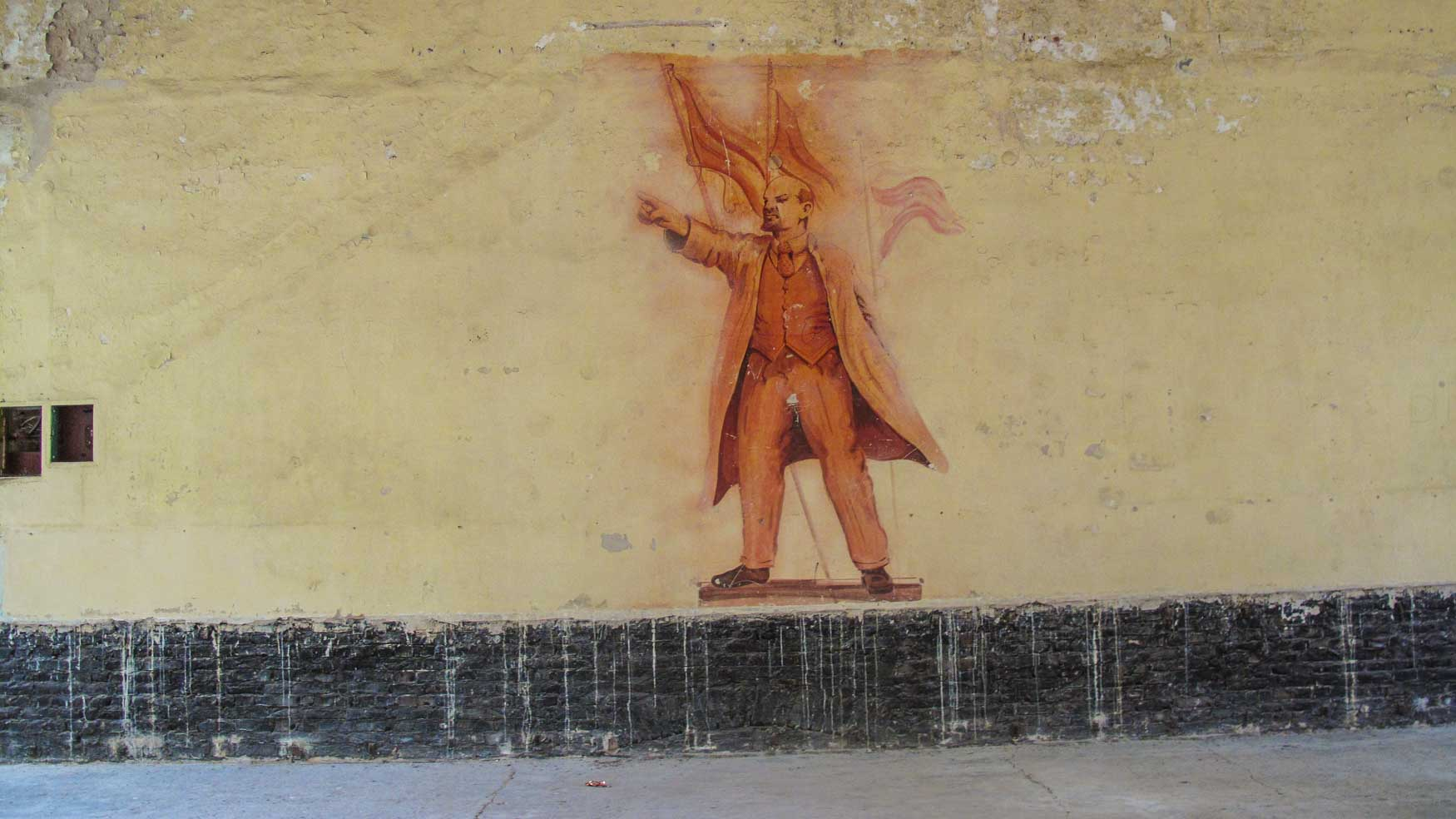 Lenin Wandbild Hindenburghaus Olympisches Dorf Elstal