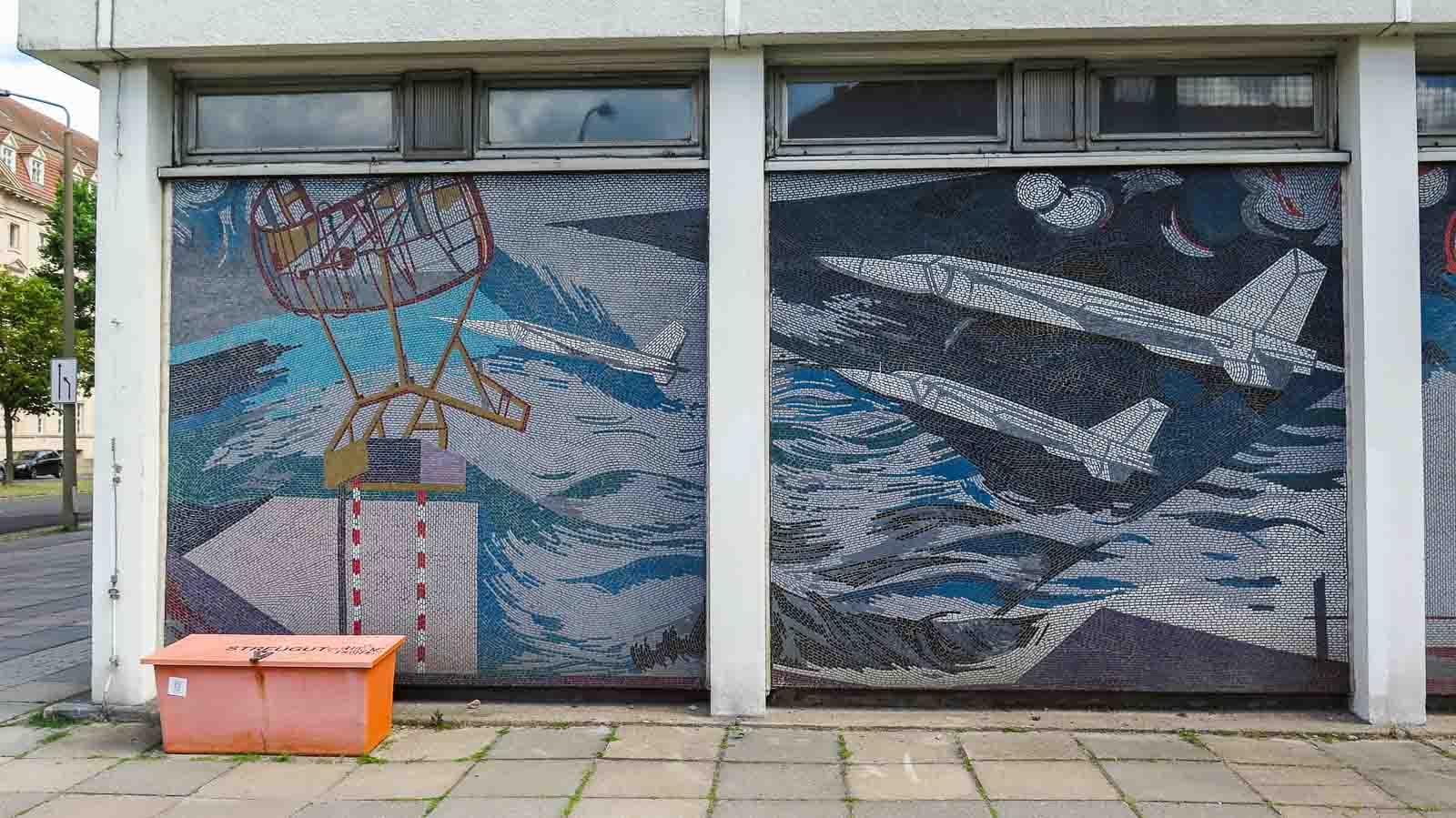 mosaik der mensch bezwingt den kosmos fritz eisel potsdam