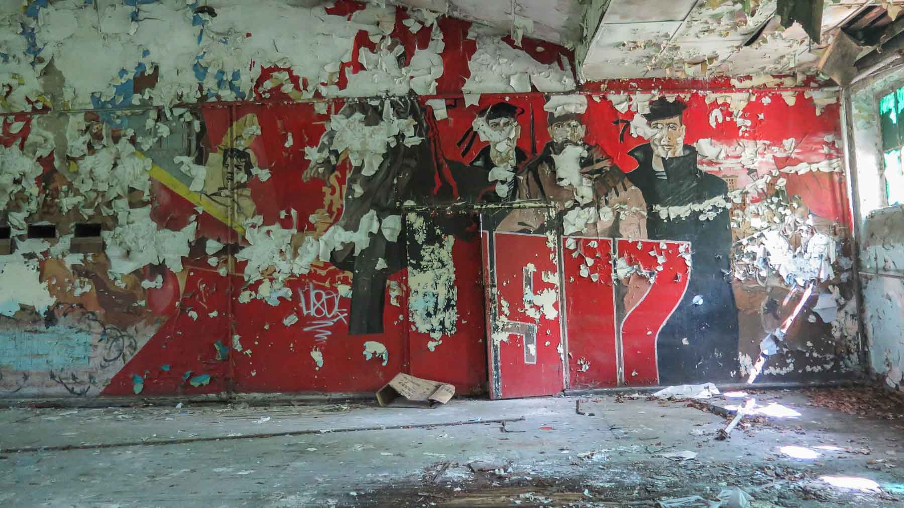 Wandbild Lost Places Sowjetische Kaserne