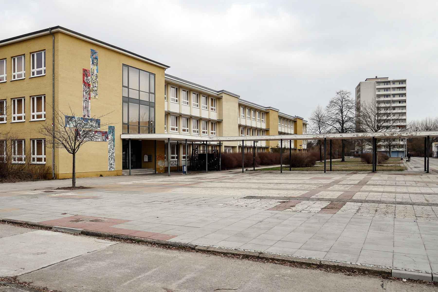 Ostmoderne Architektur Eisenhüttenstadt