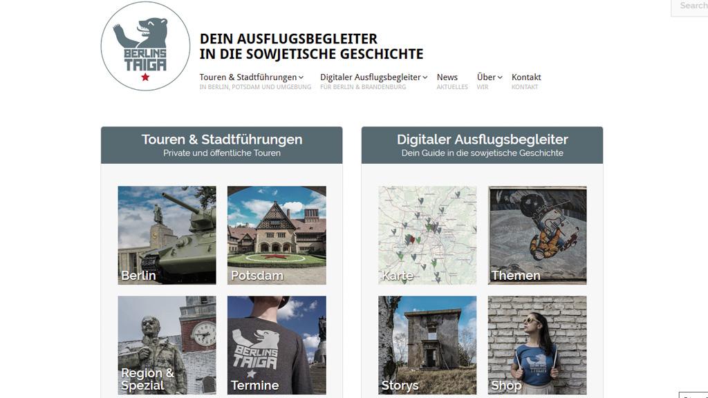 Website Berlins Taiga