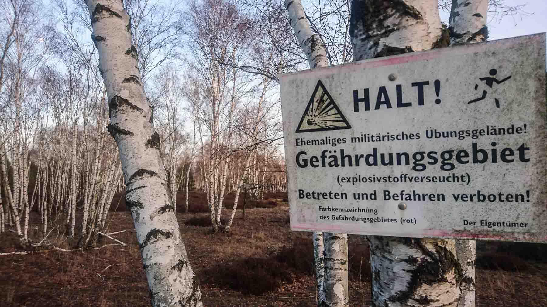 Betreten Verboten Truppenübungsplatz Brandenburg