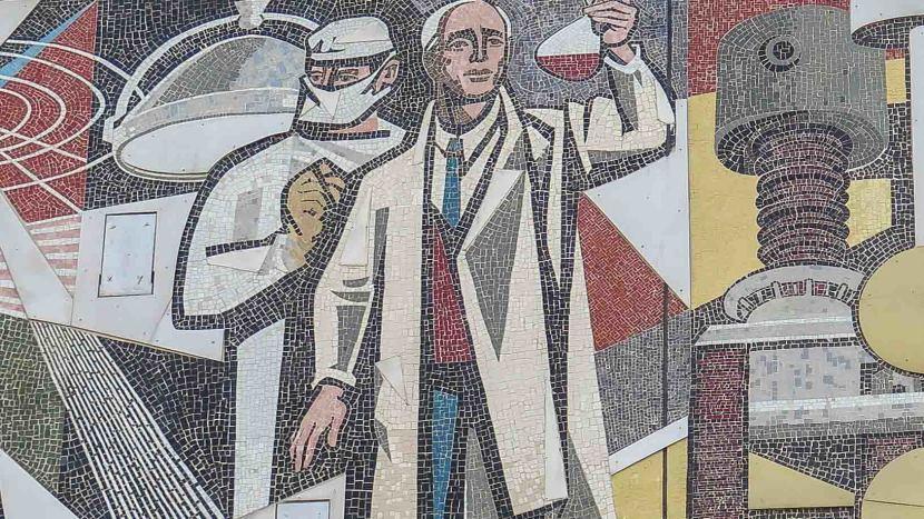 Walter Womacka Mosaik Haus des Lehrers Berlin
