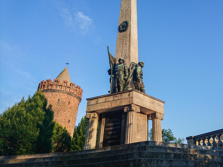 Sowjetisches Ehrenmal Brandenburg Havel Stadtführung mit Rad