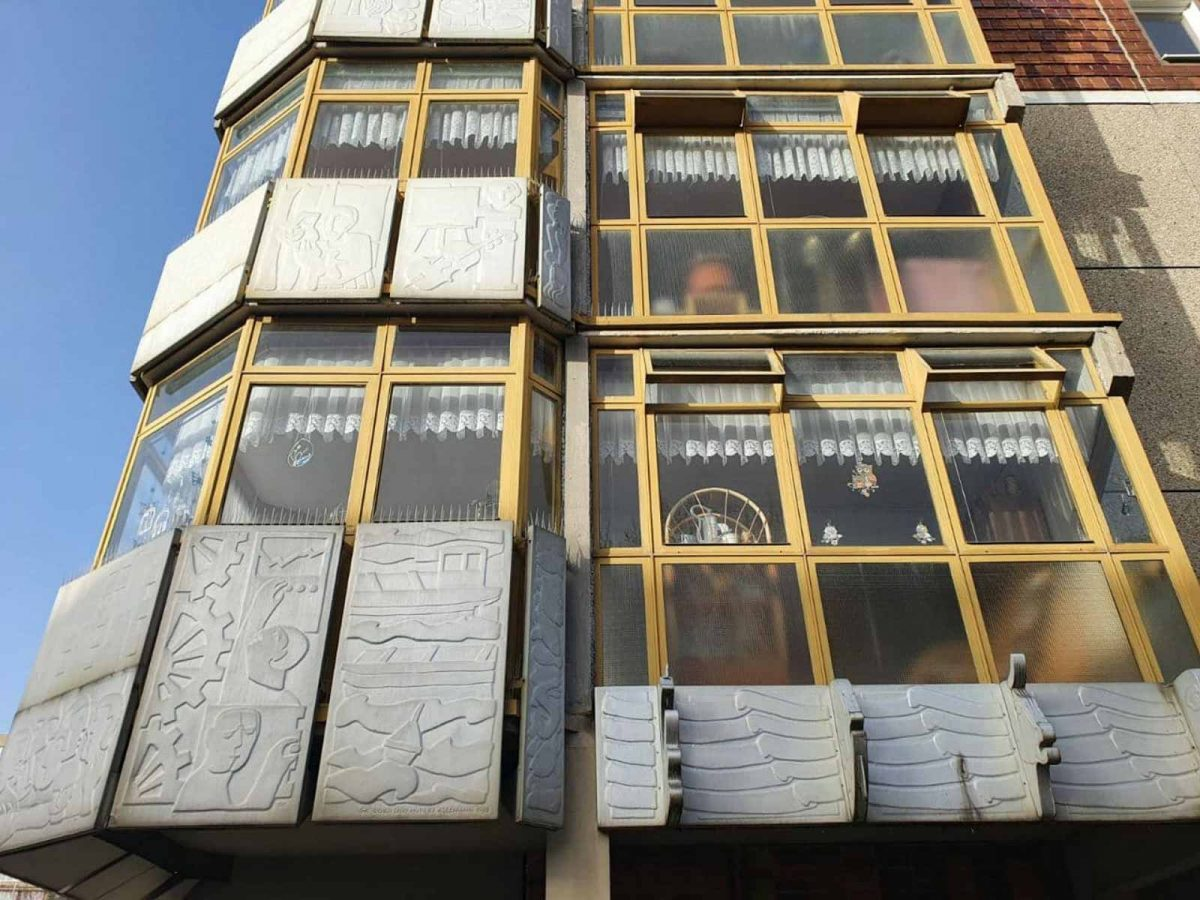 DDR Architektur Große Scharrnstraße Frankfurt Oder