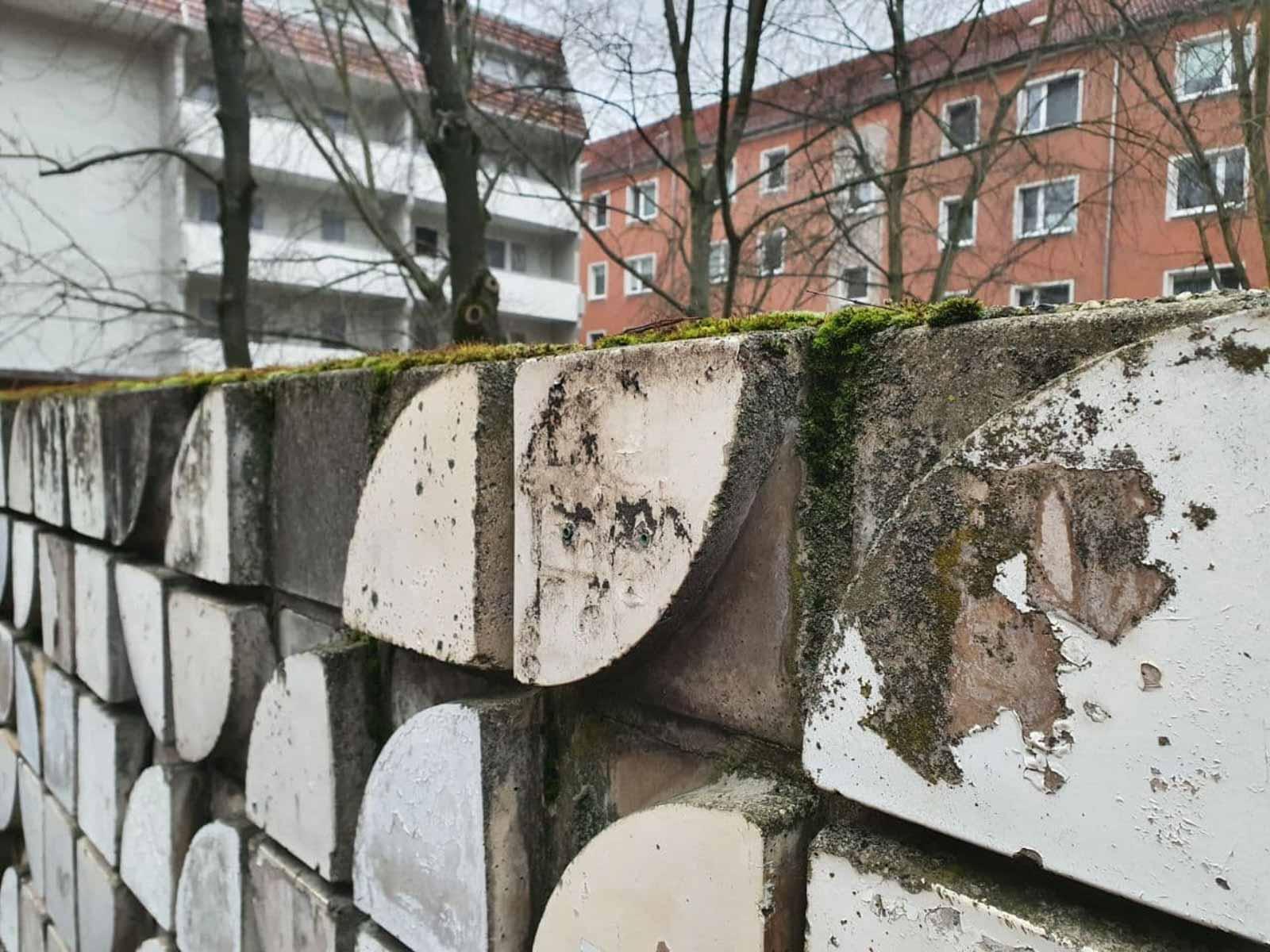 Formsteinwand Große Scharrnstraße Frankfurt Oder